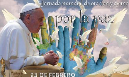 El Papa Francisco convoca a una jornada mundial de oración y ayuno por la paz