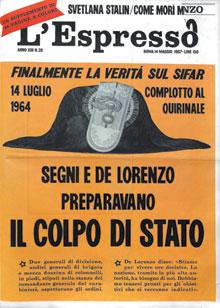Copertina Espresso sul golpe de lorenzo