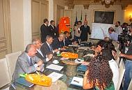 La presentazione della manifestazione nella sede della presidenza della Regione siciliana