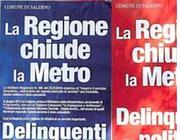 I manifesti del Comune apparsi in tutta la città
