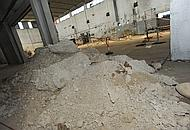 Cumuli di fanghi contaminati dal cromo nell'ex galvanica (Galofaro)