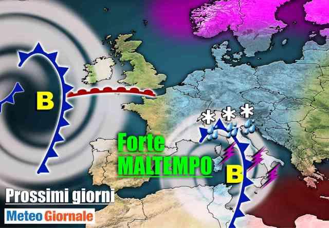 immagine 1 articolo meteo 7 giorni weekend dintenso maltempo con pioggia e rischio nubifragi