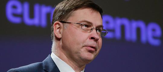 """Dombovskis: """"Le politiche economiche fanno rallentare l'Italia più degli altri Paesi"""""""