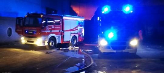 Incendio palazzo Catania