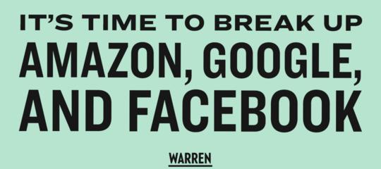 WarrenAmazonGoogle Facebook antitrust