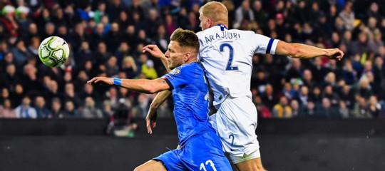 italia finlandia 2-0 europei calcio