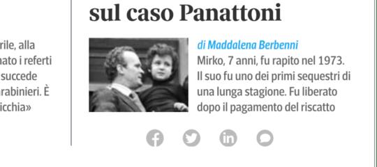 Sequestro Mirko Panattoni indagini riaperte