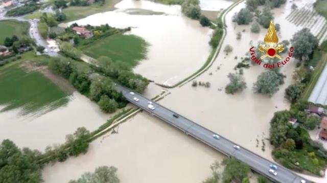 immagine 1 articolo video meteo alluvione in romagna riprese aeree