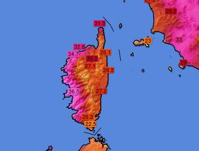 immagine 1 articolo meteo record corsica 40 gradi ajaccio