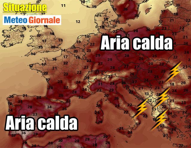 immagine 2 articolo meteo europa caldo notevole