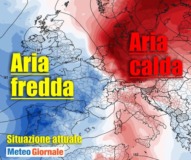 immagine 2 articolo previsioni meteo italia europa scontri tra fenomeni estremi