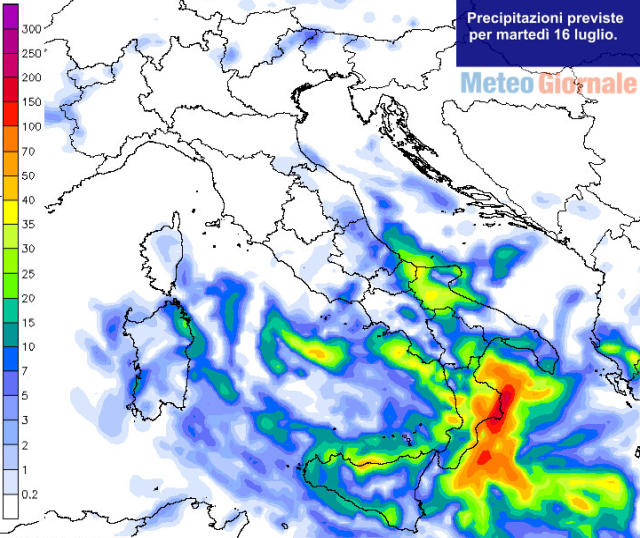 immagine 2 articolo meteo domani maltempo fresco verso il sud italia rischio nubifragi
