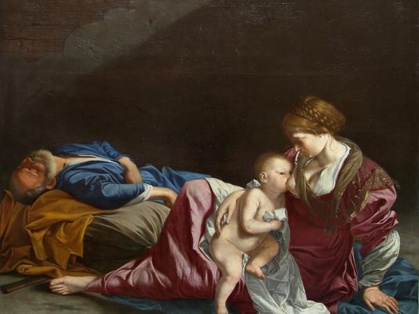 Orazio Gentileschi: Riposo durante la fuga in Egitto, olio su tela, Ex J P Getty Museum