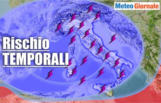 immagine 1 articolo meteo 7 giorni ancora temporali e declino estate