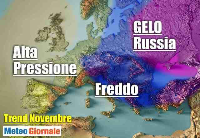 immagine 1 articolo svolta meteo novembre gelo russia forte avanzata