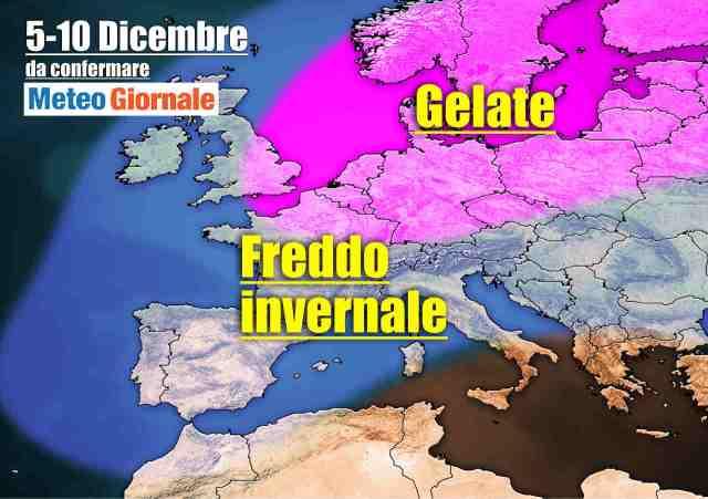 immagine 1 articolo meteo italia a rischio imponente freddo invernale