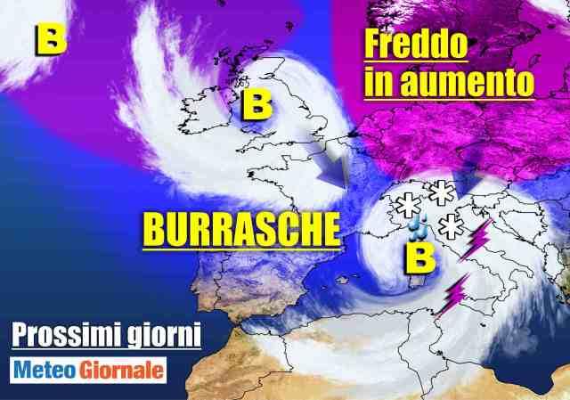 immagine 1 articolo meteo 7 giorni serie di perturbazioni attesa anche neve a quote basse