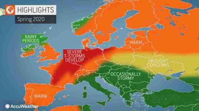 immagine 1 articolo meteo primavera accuweather europa turbolenze