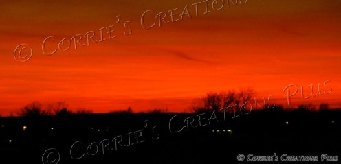 Stunning sunset in northwest Missouri