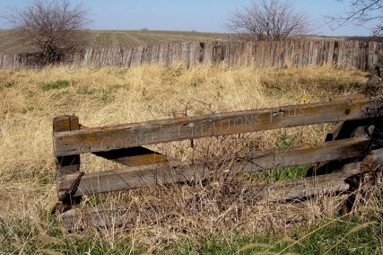 A fence line on the Nebraska prairie