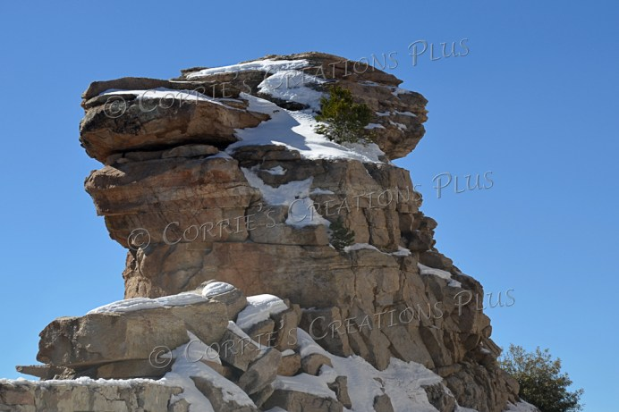 A lot of large rock formations can be found along the Catalina Highway in southeastern Arizona.