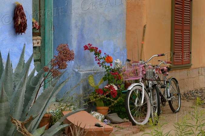 Bicycles in the barrio; taken in downtown Tucson