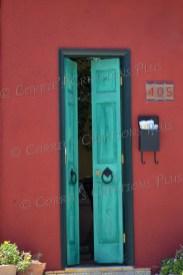 Green door in the El Presidio district in downtown Tucson