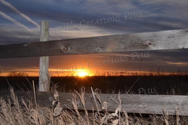 Fencepost sunset; taken in southeastern Nebraska