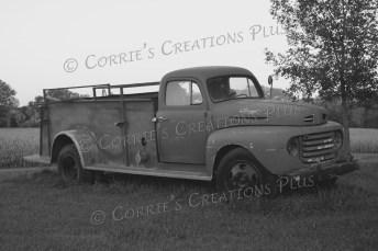 Old Ford fire truck; taken in southeastern Nebraska
