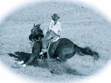 Notice the leaning of the horse, his tail, and the dirt being kicked up.