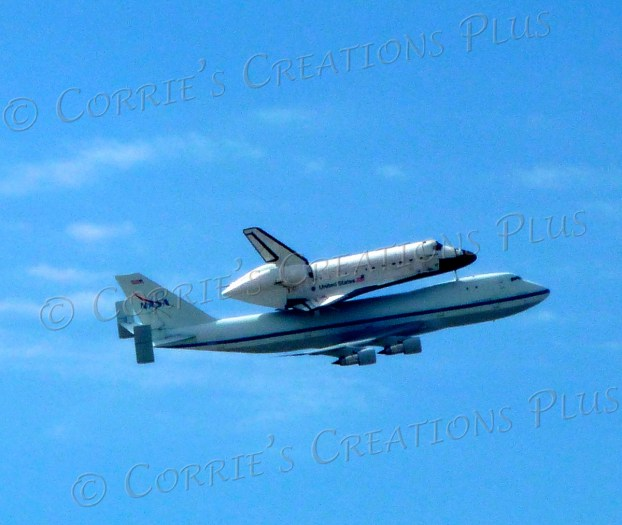 """The space shuttle """"Endeavour"""" on its last leg; taken in Tucson"""