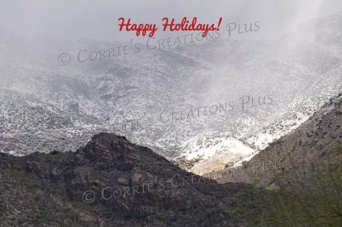 Snow on the Catalina Mountains, southeastern Arizona
