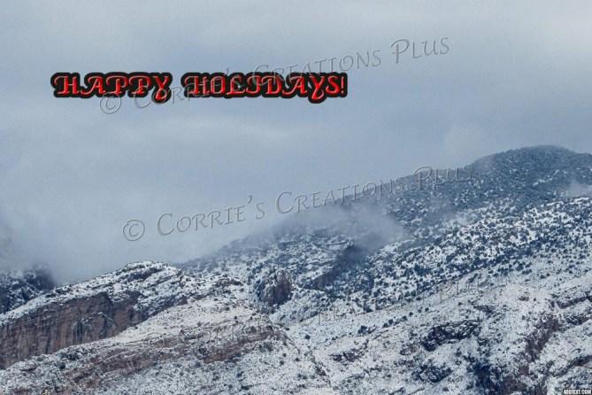 Happy Holidays from southeastern Arizona; Rincon Mountains