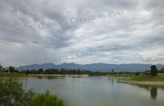 Lakeside Park in Tucson. Notice the uniqueness of the clouds as well.