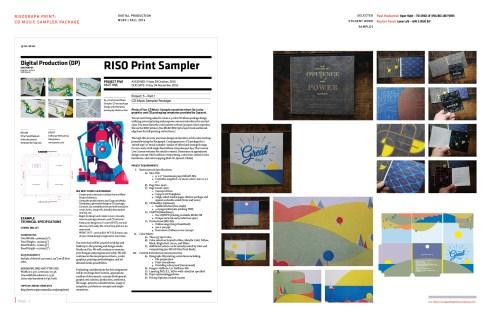 Digtal Production: RISO Print Music Sampler