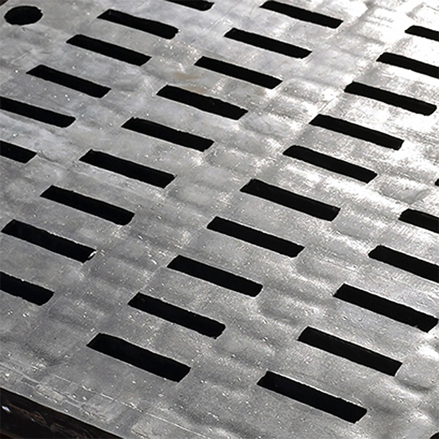 This image is a close-up of a CorroCube ceramic/rubber screen from Corrosion Engineering. These screens are ideal for severe screening applications involving abrasion, impact, and wear.