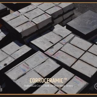 Individual CorroTile ceramic wear liners