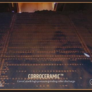 CorroCube high presusre grinding roller (HPGR) discharge