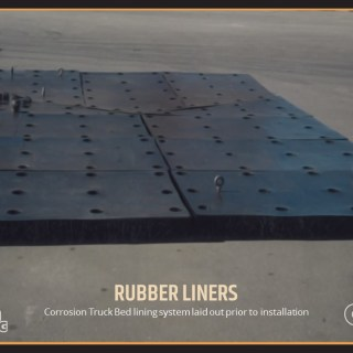 Corrosion Truck Bed lining system laid out prior to installation