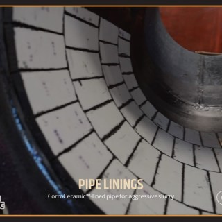 CorroCeramic™-lined pipe for aggressive slurry