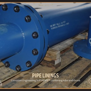 Corrosion Engineering SUPERPIPE™ combining tube and throat