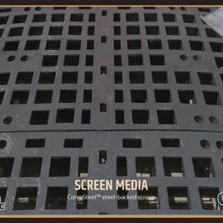 CorroSteel™ steel-backed screen