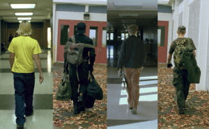 Examples of the use of cinematography in 'Elephant'