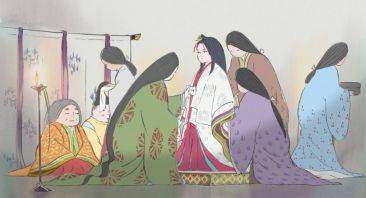 Kaguya is made up like a proper Japanese princess