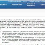 le matériel Cisco peut être revendu ou loué librement d'après le site web de Cisco RANARISON Tsilavo NEXTHOPE Cisco
