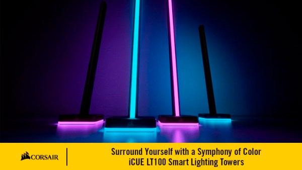Surround Yourself with a Symphony of Color – iCUE LT100 Smart Lighting Towers