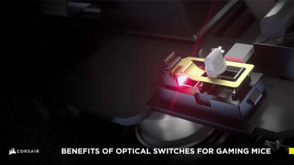 Blog cover image showing a rendered optical mouse switch being pressed