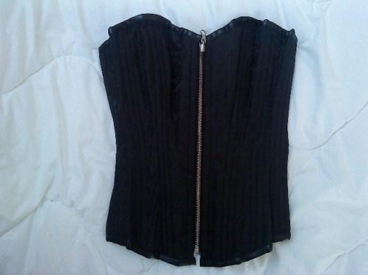 Reversible corset black side
