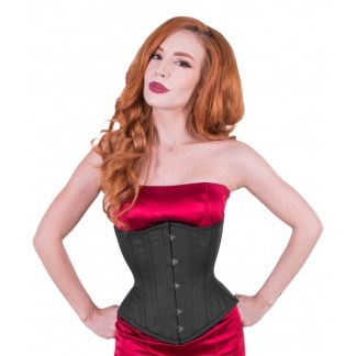 Artemis black cotton underbust corset $99 by True Corset designed by Lucy's Corsetry