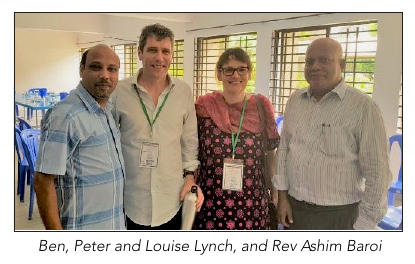 Ben, Peter and Louise Lynch and Rev Ashim Baroi